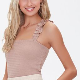 Ruffled Smocked Crop Top | Forever 21 (US)
