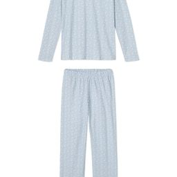 JB x LAKE Pima Long-Long Weekend Set in Blue Meadow | LAKE Pajamas