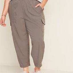 High-Waisted StretchTech Utility Plus-Size Ankle Pants | Old Navy (US)