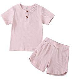 Toddler Baby Boy Girl Clothes Set Unisex Infant Long Sleeve T-Shirt Top + Pants Ribbed Sleepwear ... | Amazon (US)