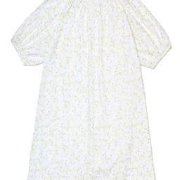 JB x LAKE Poplin Gathered Sleeve Dress in Spring Vine | LAKE Pajamas