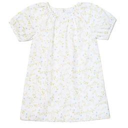 JB x LAKE Kids Gathered Sleeve Dress in Spring Vine | LAKE Pajamas