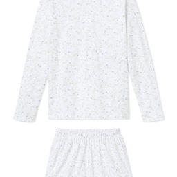 JB x LAKE Pima Long-Short Weekend Set in Spring Vine | LAKE Pajamas