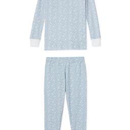 JB x LAKE Kids Long-Long Set in Blue Meadow | LAKE Pajamas