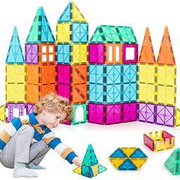 Neoformers Magnetic Building Tiles, 70 Pcs 3D Magnetic Building Blocks Set for Kids, STEM Educati... | Amazon (US)