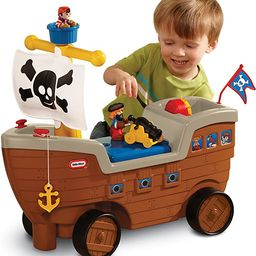 Little Tikes 2-in-1 Pirate Ship Ride-On Toy and Playset - Kids Ride-On Boat with Wheels, Under Se... | Amazon (US)