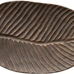 Bloomingville Decorative Hand-Carved Mango Wood Leaf Tray, Natural | Amazon (US)