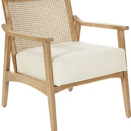 OSP Home Furnishings Alaina Arm Chair, Linen Coastal Wash | Amazon (US)