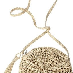 Ayliss Women Straw Crossbody Purse Beach Handmade Woven Shoulder Bag with Tassels | Amazon (US)
