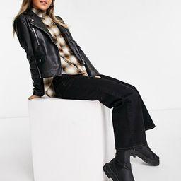 ASOS DESIGN ultimate faux leather biker jacket in black   ASOS (Global)