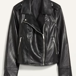 Faux-Leather Zip-Pocket Moto Jacket for Women   Old Navy (US)
