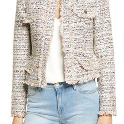 Women's Fringe Metallic Crop Tweed Jacket | Nordstrom
