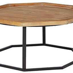 "Amazon Brand – Stone & Beam Aire Rustic OctagonalFir Wood Coffee Table, 39.5""W, Black & Natur...   Amazon (US)"