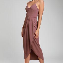 Reinette Mauve Purple Midi Dress | Lulus (US)