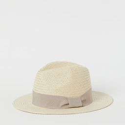 Straw Hat with Grosgrain Band | H&M (US)