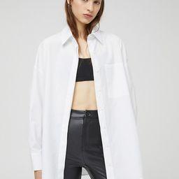 Pull&Bear poplin shirt in white | ASOS (Global)