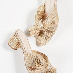 Emilia Pleated Knot Mules   Shopbop