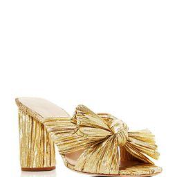 Women's Penny Pleated High Heel Slide Sandals   Bloomingdale's (US)