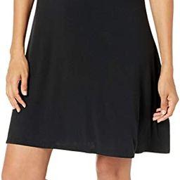 Amazon Essentials Women's Short Sleeve Scoopneck A-line Shirt Dress | Amazon (US)