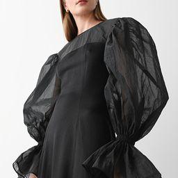 Organza Sleeve Silk Midi Dress | & Other Stories