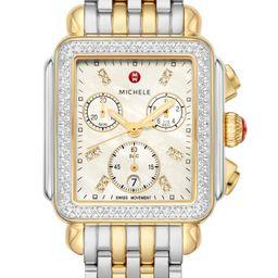 MICHELE Deco Diamond Chronograph Watch Head & Bracelet, 33mm | Nordstrom | Nordstrom