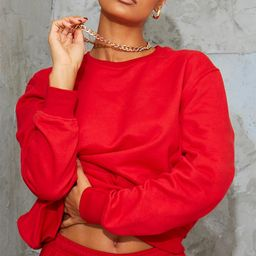Sweat oversize rouge classique   Pretty Little Thing (FR)