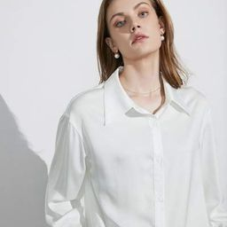 Business Essential Ivory Silky Blouse | J.ING