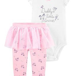 2-Piece Daddy's Little Princess Bodysuit & Tutu Pant Set | Carter's