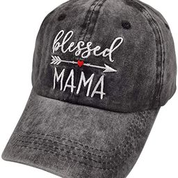 Waldeal Women's Embroidered Dad Hat, Adjustable Vintage Washed Cotton Baseball Cap   Amazon (US)