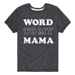 Instant Message Tee Shirts HEATHER - Heather Charcoal 'Word to My Mama' Tee - Toddler & Kids   Zulily