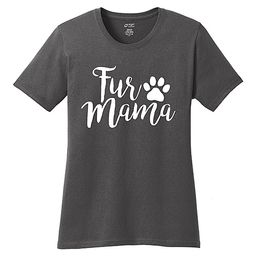 TKO tees Women's Tee Shirts Charcoal - Charcoal 'Fur Mama' Tee - Women   Zulily