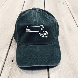Christmas Gift, Massachusetts Outline Hat, Massachusetts State Hat, Home State Hat, Embroidered B... | Etsy (US)