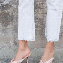 Cabrera Pink Satin Square Toe High Heel Sandals | Lulus (US)