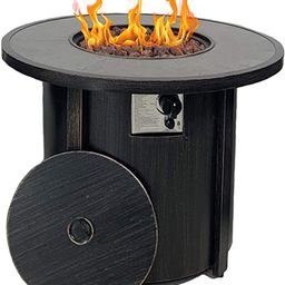 """Propane Gas Fire Pit Table,Summerville 32"""" Round Gas Fire Pit Outdoor Fire Bowl Backyard Smokeles... 