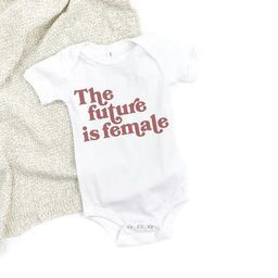 The Future Is Female Baby Bodysuit, baby feminist outfit, baby girl bodysuit, baby girl gift idea... | Etsy (US)