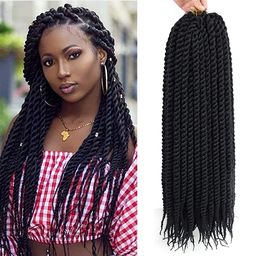 Admutty Havana Twist Crochet Hair 6 Packs 22 inch Crochet Braids Senegalese Twist Crochet Braidin... | Amazon (US)