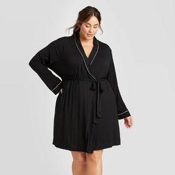 Women's Plus Size Beautifully Soft Robe - Stars Above™ Black 3X-4X   Target