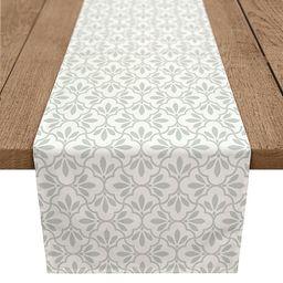 Designs Direct Sage Quatrefoil Poly Twill Table Runner   Bed Bath & Beyond   Bed Bath & Beyond