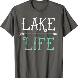 Lake Life T shirt Fishing Boating Sailing Funny Outdoor Tee | Amazon (US)