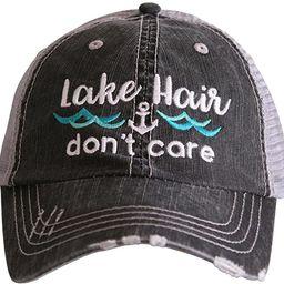 KATYDID Lake Hair Don't Care Baseball Cap - Trucker Hat for Women - Stylish Cute Sun Hat | Amazon (US)