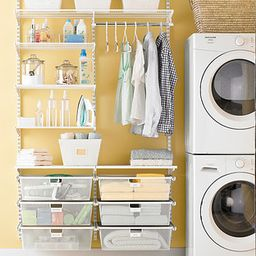White Elfa Laundry Room | The Container Store
