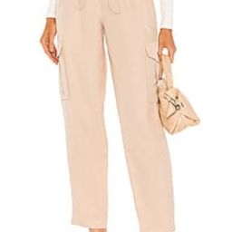 h:ours Shaye Paperbag Cargo Pant in Champagne from Revolve.com | Revolve Clothing (Global)