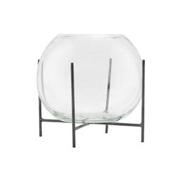 Vase With Stand Ada In Glass 15 Cm | Trouva (Global)