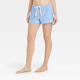 Women's Striped Simply Cool Pajama Shorts - Stars Above™ Blue   Target