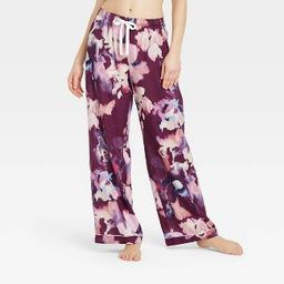 Women's Floral Print Simply Cool Pajama Pants - Stars Above™ Purple   Target