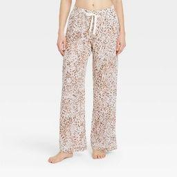 Women's Leopard Print Simply Cool Pajama Pants - Stars Above™ Cream   Target
