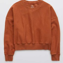 Aerie New Love Corded Cropped Crew Sweatshirt   American Eagle Outfitters (US & CA)