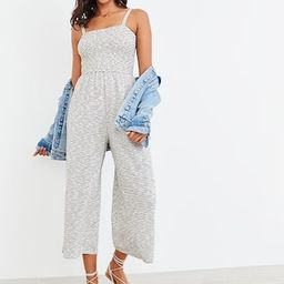 Smocked-Top Textured-Stripe Cami Jumpsuit for Women | Old Navy (US)