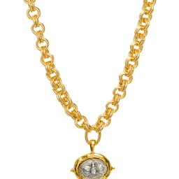 Susan Shaw Women's Necklaces Gold/Silver - 24K Gold-Plated & Silvertone Bee Pendant Necklace | Zulily