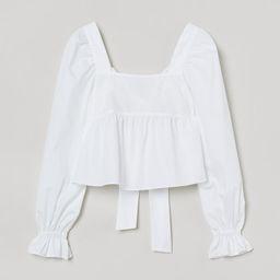 Bow-back Cotton Blouse   H&M (US)